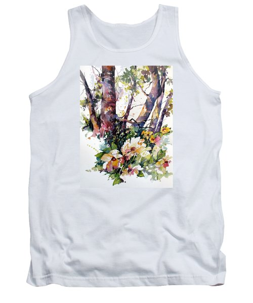 Tank Top featuring the painting A Quiet Place by Rae Andrews