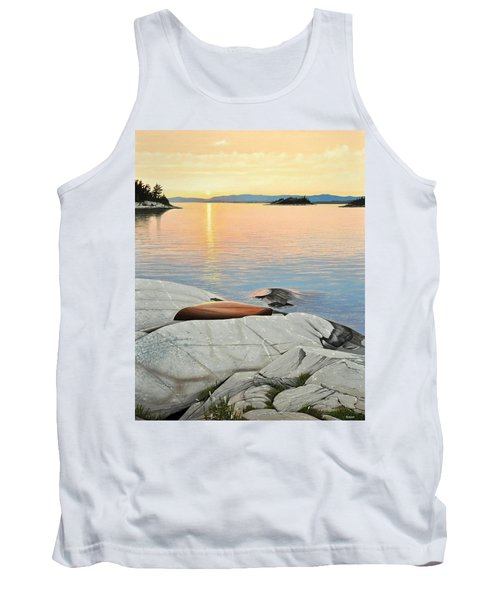 Tank Top featuring the painting A Quiet Time by Kenneth M  Kirsch