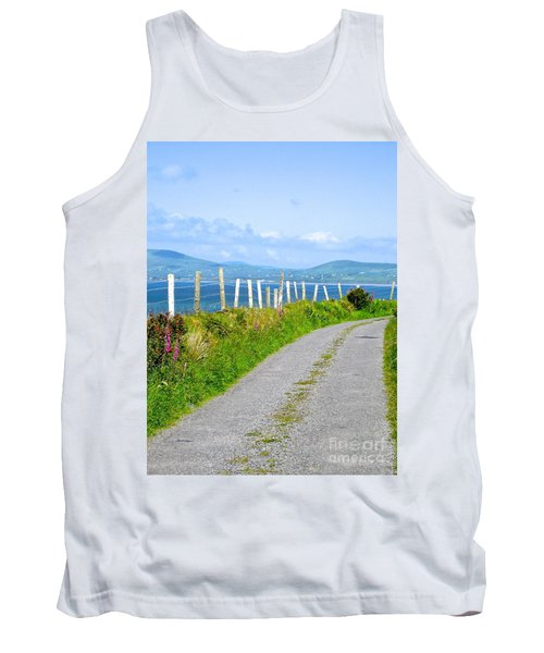 Tank Top featuring the photograph A Road To Waterville by Suzanne Oesterling
