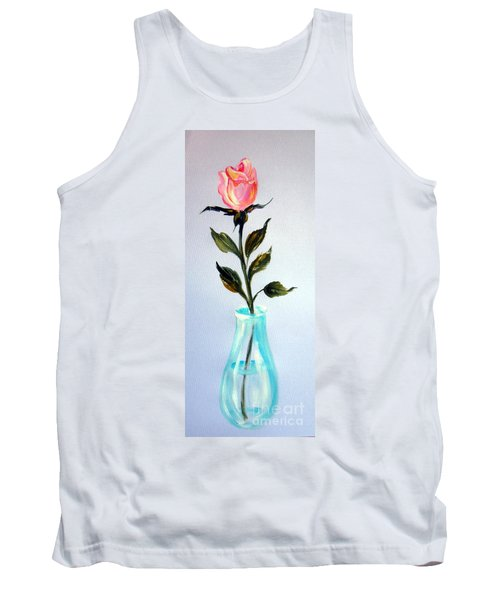 Tank Top featuring the painting A Rose For My Lovely Gordana by Roberto Gagliardi