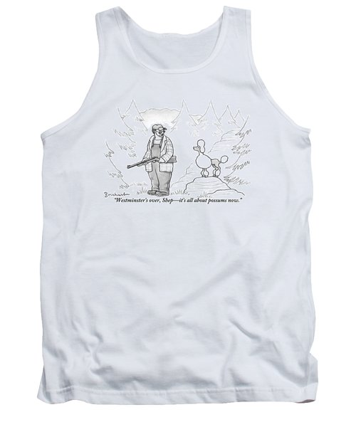 A Rough-looking Man Holding A Shotgun Speaks Tank Top
