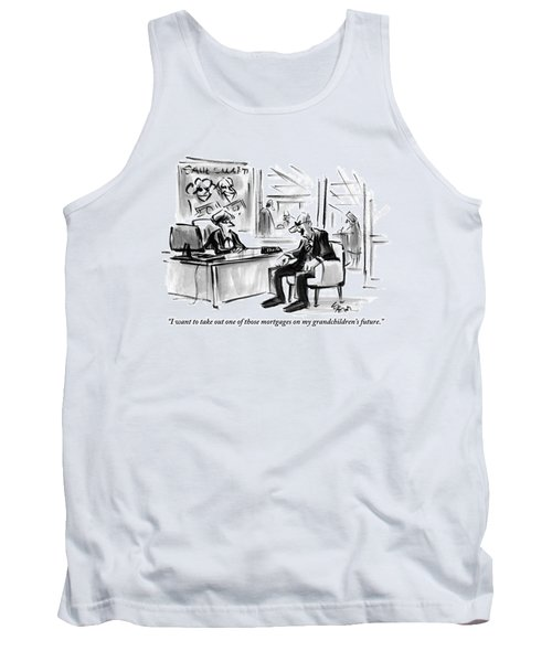 A Scrooge-like Old Man Consults With A Bank Tank Top