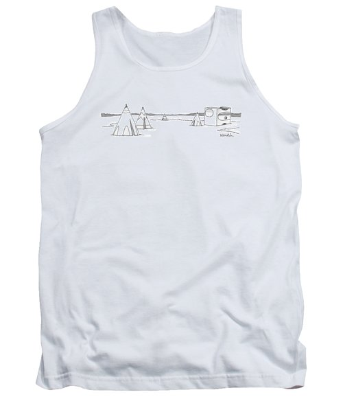 Teepees And Pencil Sharpener Tank Top