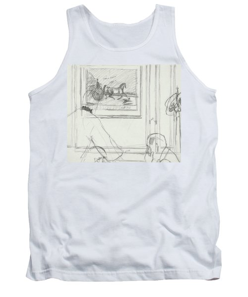 A Sketch Of A Horse Painting At A Bar Tank Top