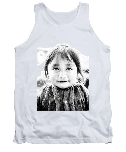 A Small Guatemalam Life - Black And White Tank Top by Shelby  Young