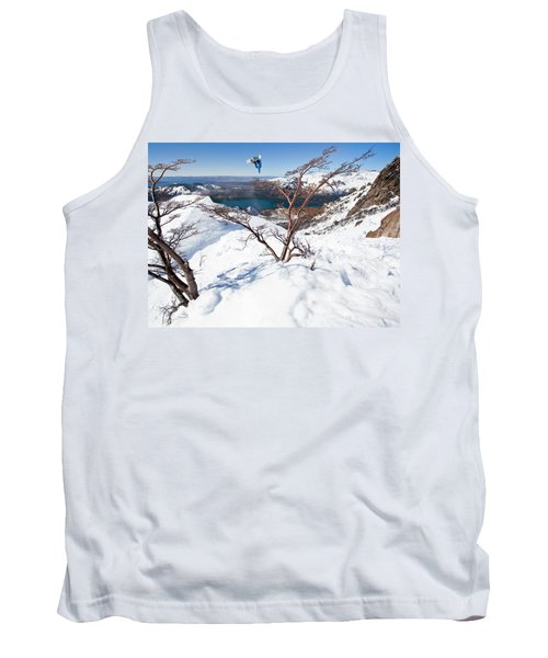 A Snowboarder Hits A Jump Tank Top