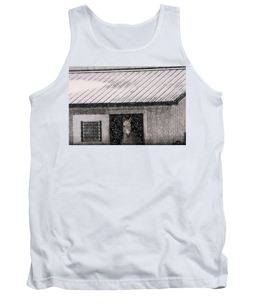 A Snowfall At The Stable Tank Top