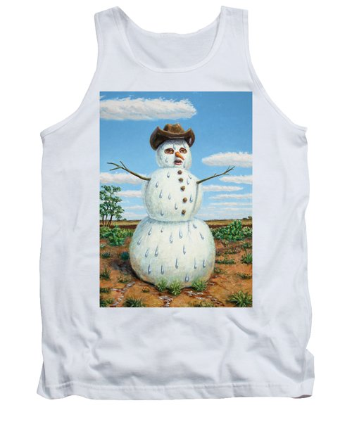 A Snowman In Texas Tank Top