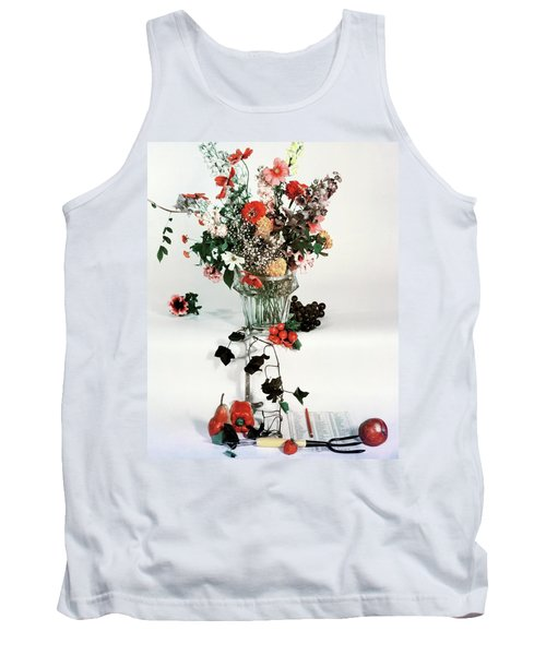 A Studio Shot Of A Vase Of Flowers And A Garden Tank Top
