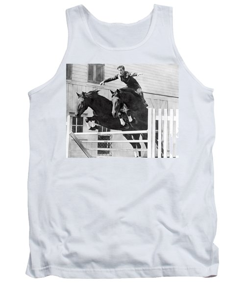 A Stunt Rider On Two Horses. Tank Top