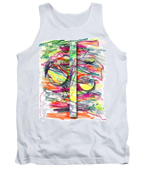 Tank Top featuring the drawing A Summers Day Breeze by Peter Piatt
