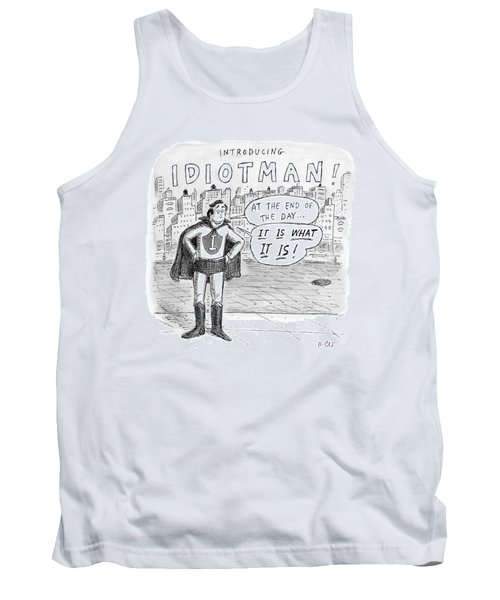 A Superhero With An I On His Chest Tank Top
