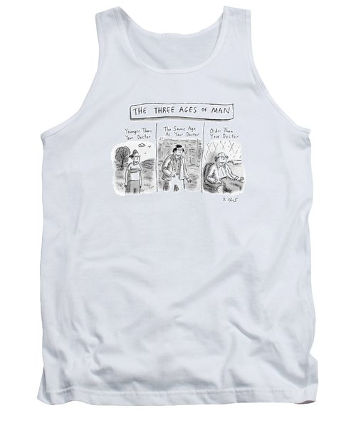 A Three Panel Images That Have Three Men: Tank Top
