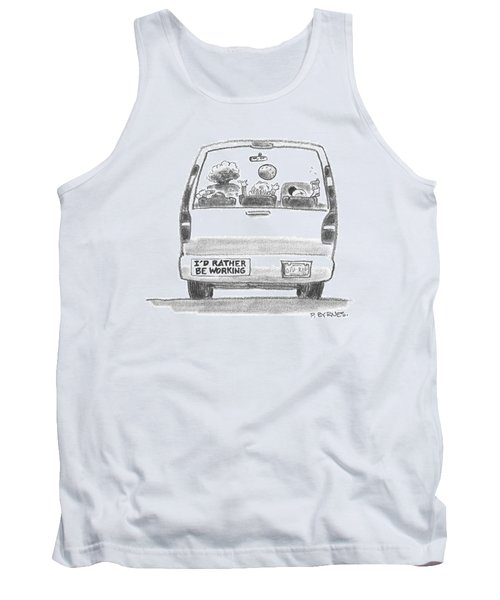 A Vehicle With Many Children Inside Is Seen Tank Top
