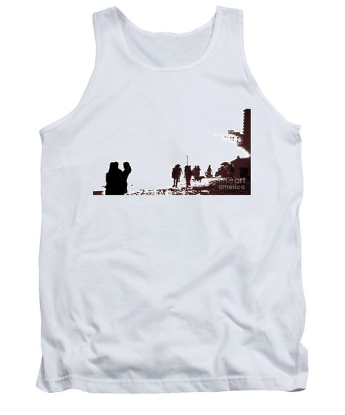 A Walk On The Beach Tank Top by Gary Smith