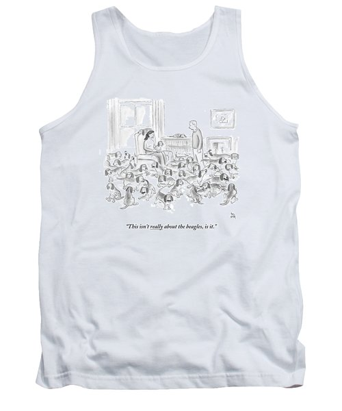 A Wife Surrounded By Beagles Addresses Tank Top
