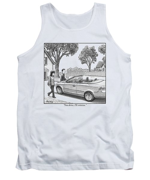 A Woman And Man Are Walking From Their House Tank Top