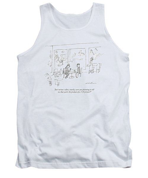 A Woman Asks A Man On A Date Tank Top