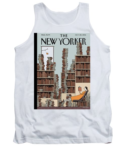 Fall Library Tank Top