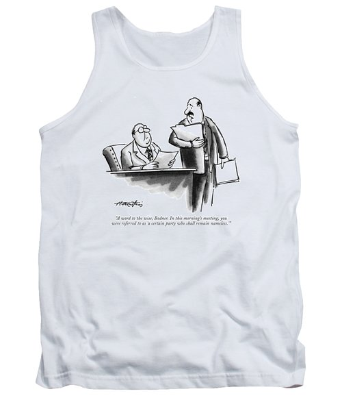 A Word To The Wise Tank Top