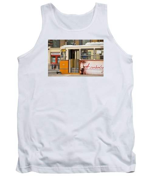 A Yellow Tram On The Streets Of Budapest Hungary Tank Top by Imran Ahmed