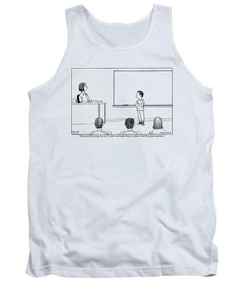 A Young Boy Presents In Front Of His Teacher Tank Top