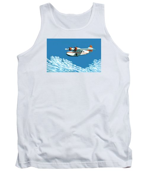 Above It All  The Grumman Goose Tank Top by Gary Giacomelli