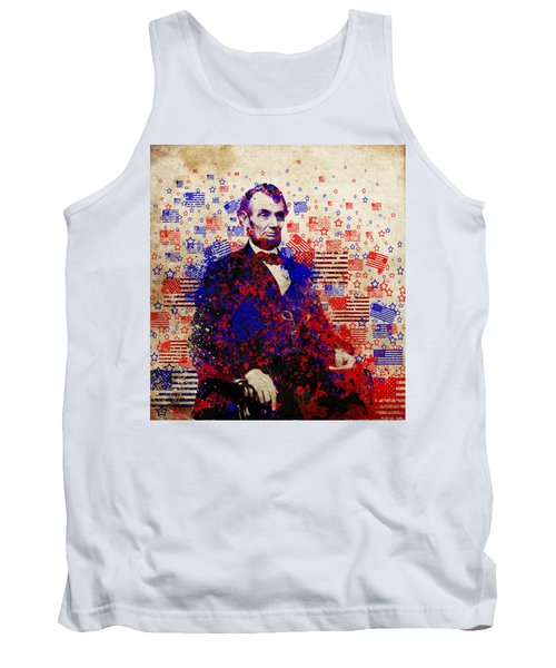Abraham Lincoln With Flags Tank Top