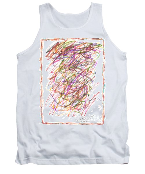 Tank Top featuring the painting Abstract Confetti Celebration by Joseph Baril