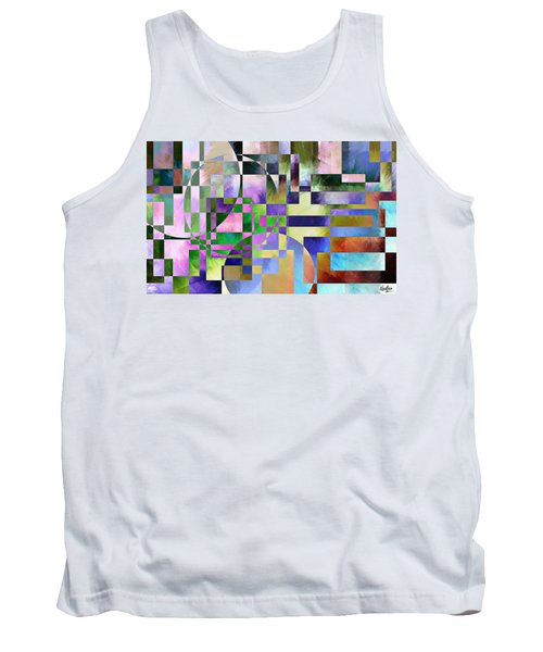 Tank Top featuring the painting Abstract In Lavender by Curtiss Shaffer