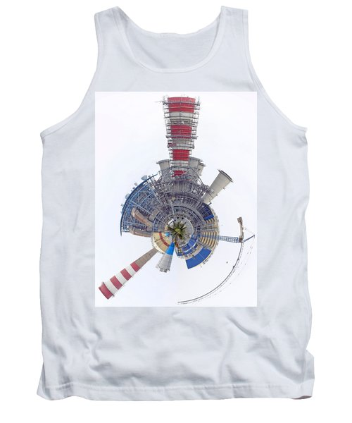Abstract Construction Power Plant Tank Top