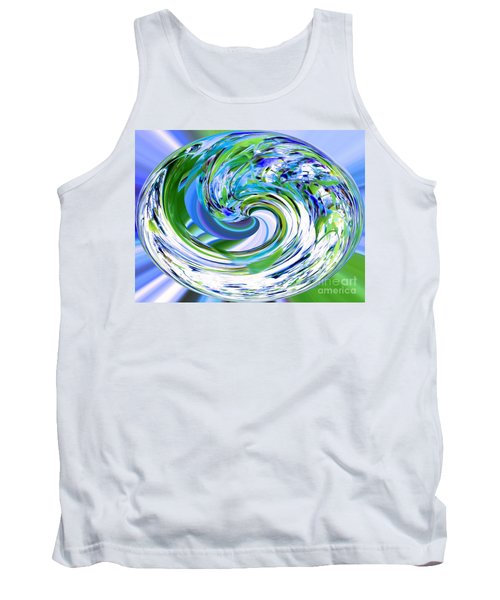 Abstract Reflections Digital Art #3 Tank Top