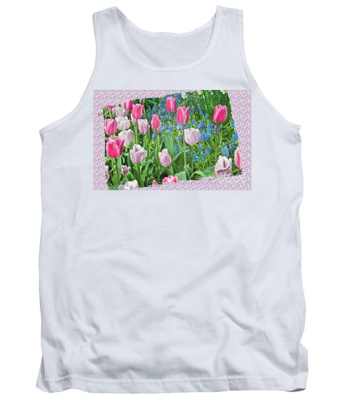 Abstract Spring Floral Fine Art Prints Tank Top