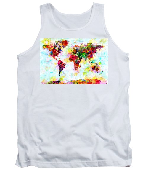 Abstract World Map Tank Top