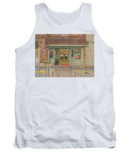 Tank Top featuring the painting Acworth Shop by Donald Maier