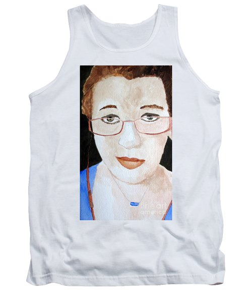 Tank Top featuring the painting Addie Two by Sandy McIntire