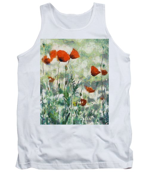 Tank Top featuring the painting Affection by Joe Misrasi