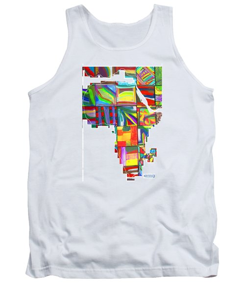 Tank Top featuring the painting African Brightness by Mudiama Kammoh