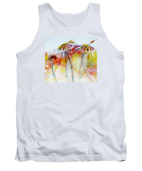 Tank Top featuring the painting African Daisy Abstract by Lisa Kaiser