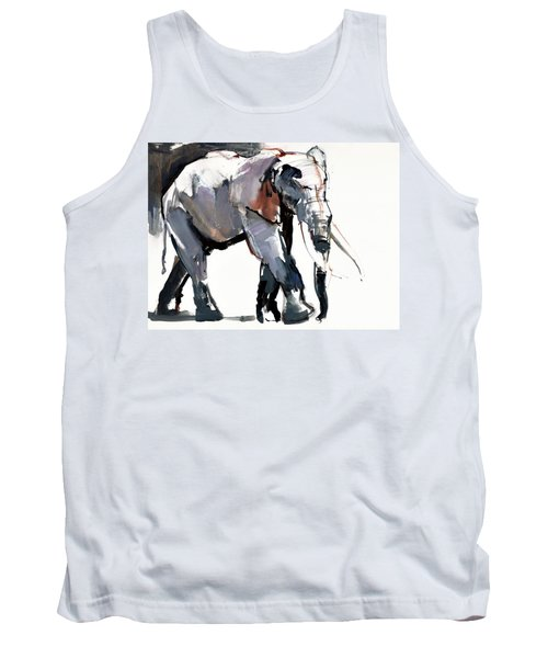 African Elephant, 2012, Mixed Media On Paper Tank Top
