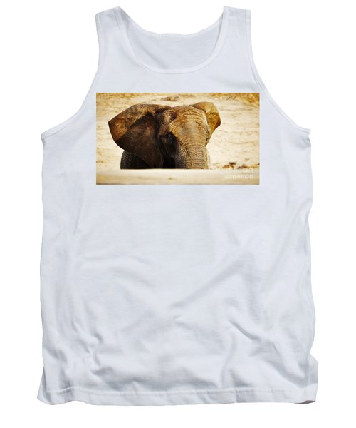 African Elephant Behind A Hill Tank Top