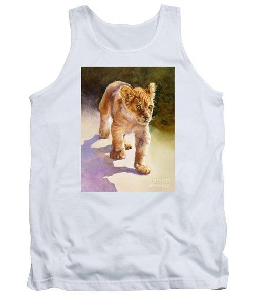 African Lion Cub Tank Top by Bonnie Rinier