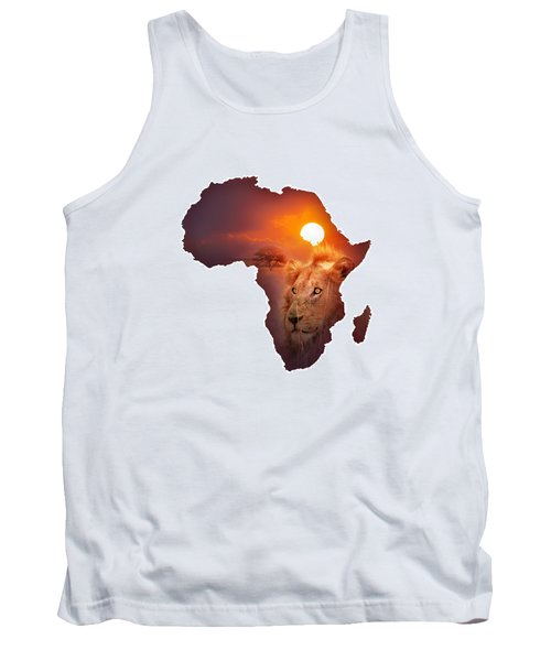 African Wildlife Map Tank Top