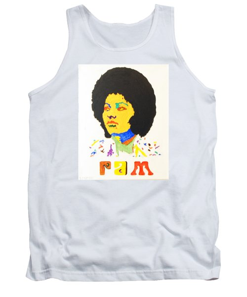 Tank Top featuring the painting Afro Pam Grier by Stormm Bradshaw