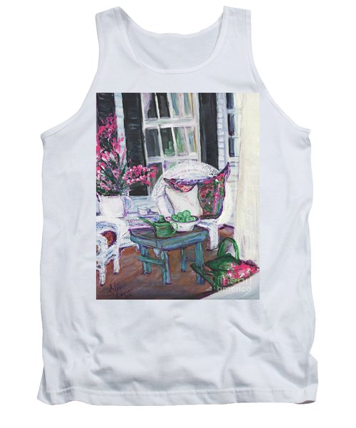 Afternoon At Emmaline's Front Porch Tank Top by Helena Bebirian