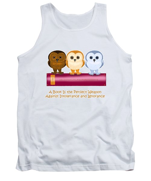 Tank Top featuring the painting Against Ignorance by Leena Pekkalainen
