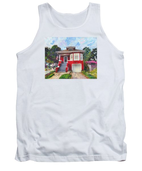 Colonial Revival High Basement Cottage 1907  Tank Top by Linda Weinstock