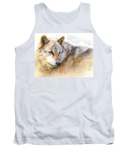 Alaskan Gray Wolf Tank Top by Bonnie Rinier