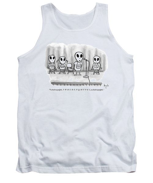 Aliens Participating In A Spelling Bee Tank Top