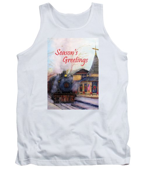 All Aboard At The New Hope Train Station Card Tank Top by Loretta Luglio